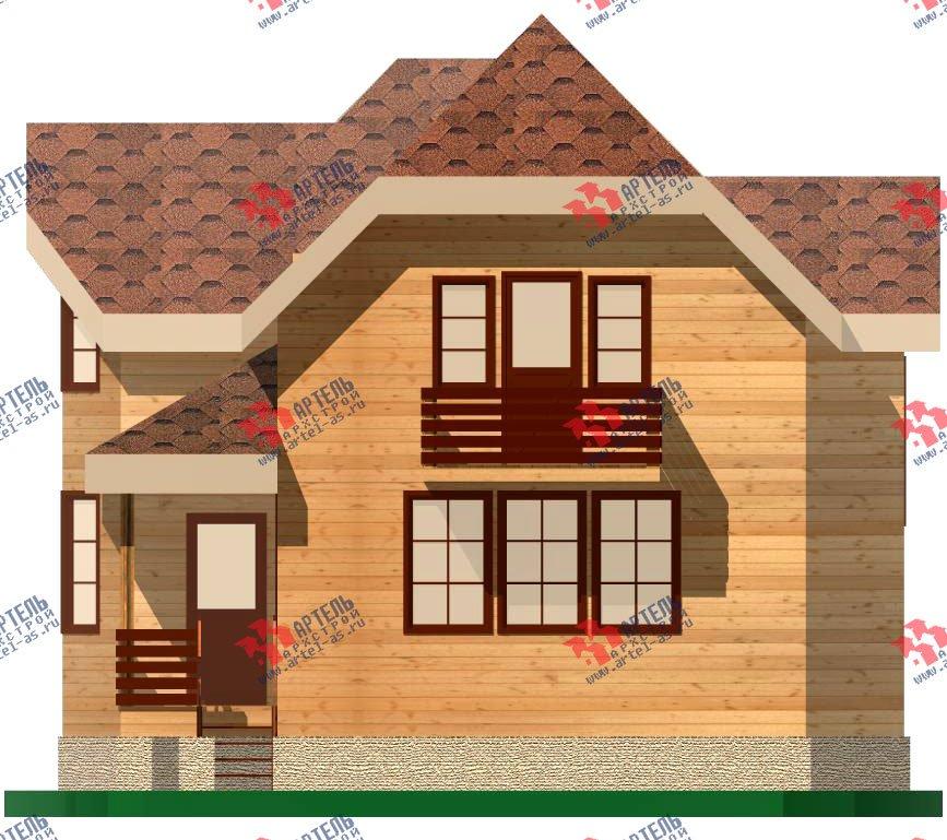 двухэтажный дом из бруса площадью от 100 до 150 кв. м. с  балконом, мансардой, эркером, проект Вариант 9.3 В фотография 1132