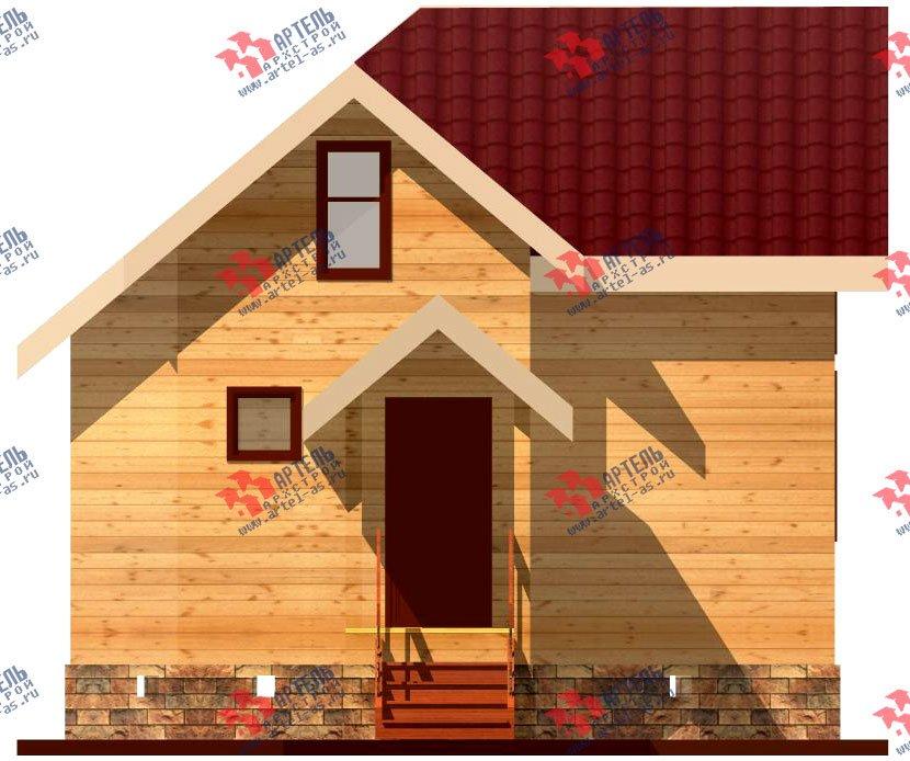 двухэтажный дом из профилированного бруса площадью до 100 кв. м., проект Вариант 3 фотография 1545