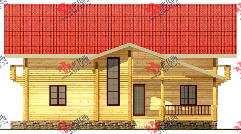 двухэтажный дом из бруса площадью свыше 200 кв. м. с  балконом, мансардой, проект Вариант 11.4 А фотография 125