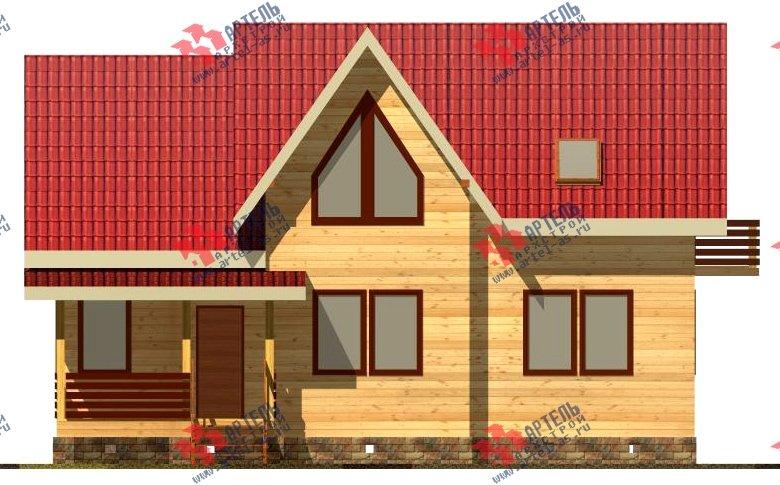 двухэтажный дом из бруса площадью от 150 до 200 кв. м. с  балконом, мансардой, проект Вариант 8.7 К фотография 2141