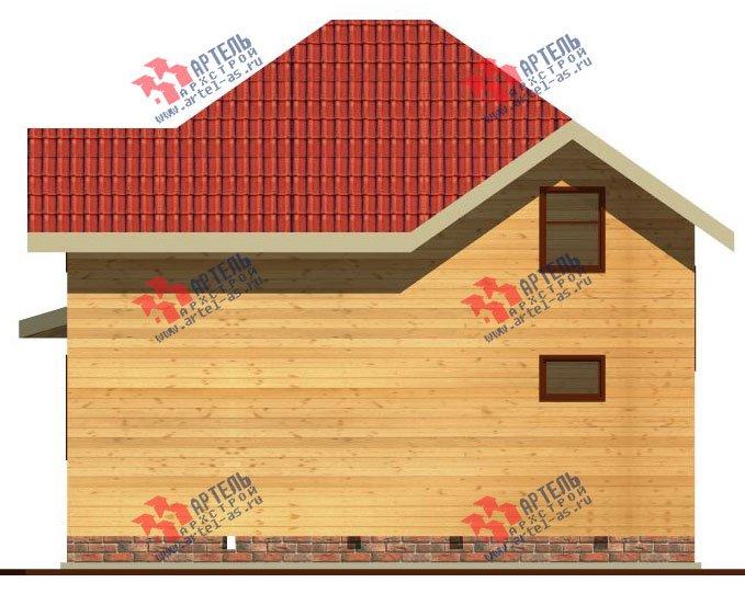 двухэтажный дом из бруса площадью от 100 до 150 кв. м. с  мансардой, эркером, проект Вариант 9 Г фотография 2202