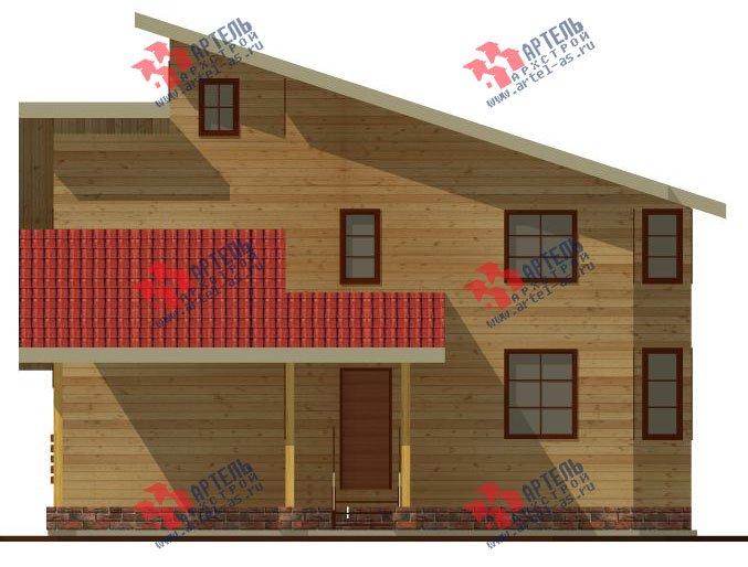 двухэтажный дом из бруса площадью от 150 до 200 кв. м. с  мансардой, террасой, проект Вариант 13 В фотография 2224