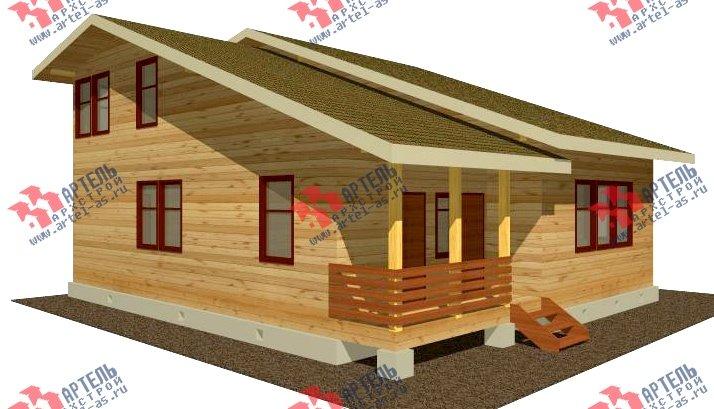 двухэтажный дом из бруса площадью свыше 200 кв. м. с  балконом, проект Вариант 10.7 А фотография 2244