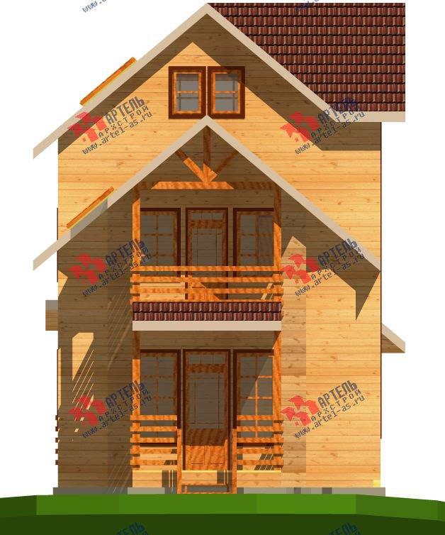 трёхэтажный дом из бруса площадью свыше 200 кв. м. с  балконом, мансардой, проект Вариант 6.3 Н фотография 2298