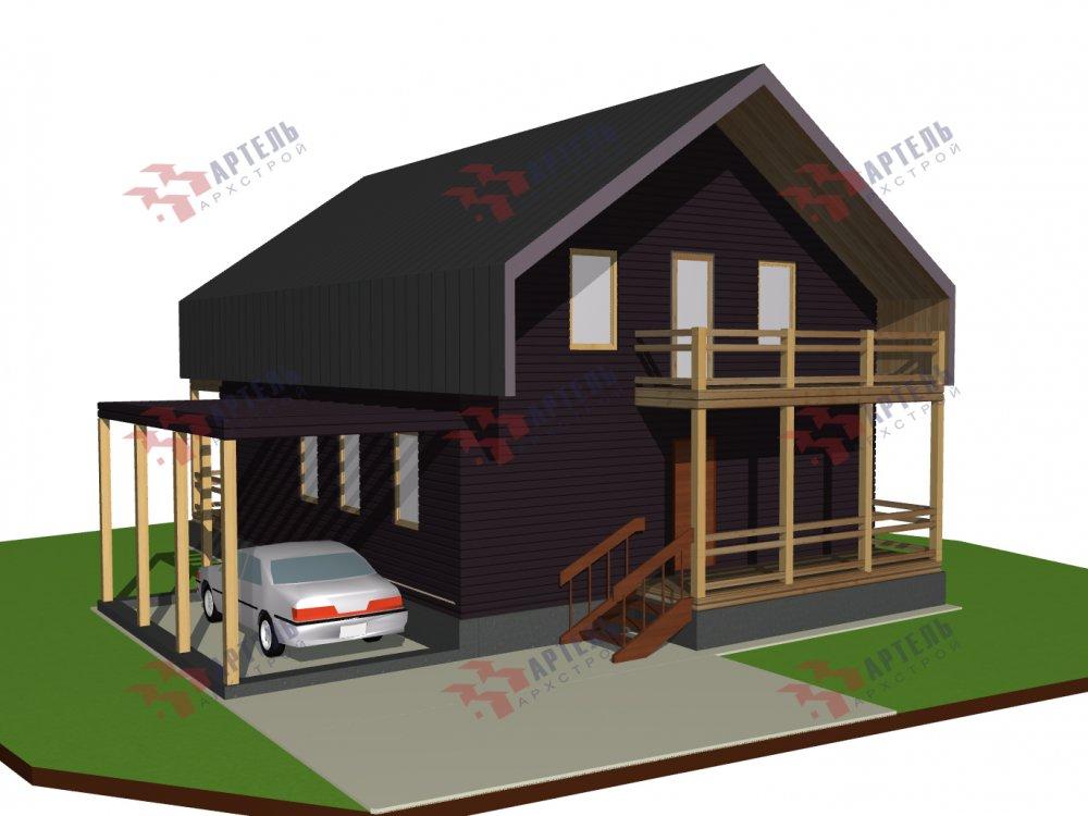 двухэтажный дом из профилированного бруса площадью от 100 до 150 кв. м. с  мансардой, эркером, проект Вариант 7 И фотография 157