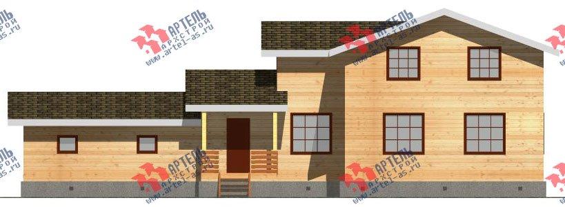 двухэтажный дом из бруса площадью от 150 до 200 кв. м. с  гаражом, мансардой, проект Вариант 8.6 Б фотография 2439