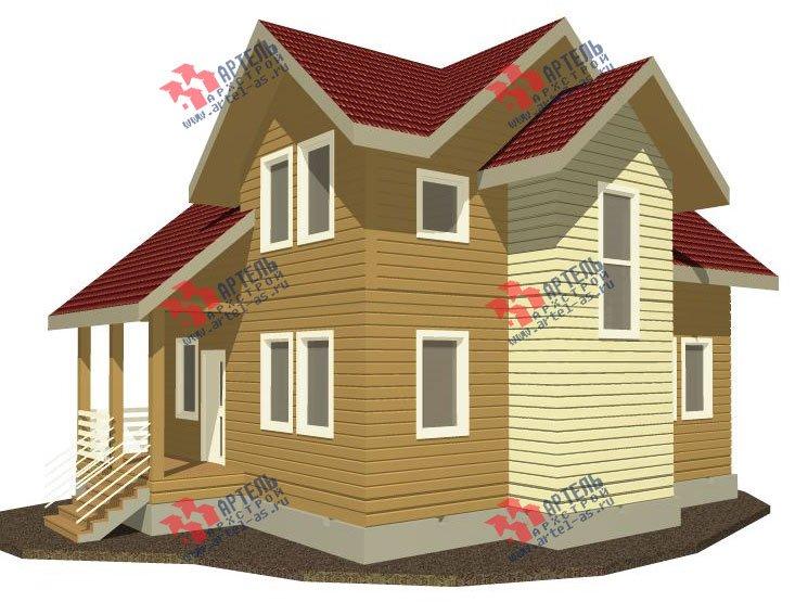 двухэтажный дом из профилированного бруса камерной сушки площадью от 100 до 150 кв. м. с  мансардой, проект Вариант 4 фотография 2506