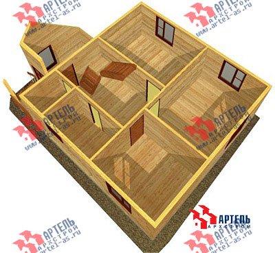 двухэтажный дом из бруса площадью от 100 до 150 кв. м. с  мансардой, проект Вариант 8 В фотография 972