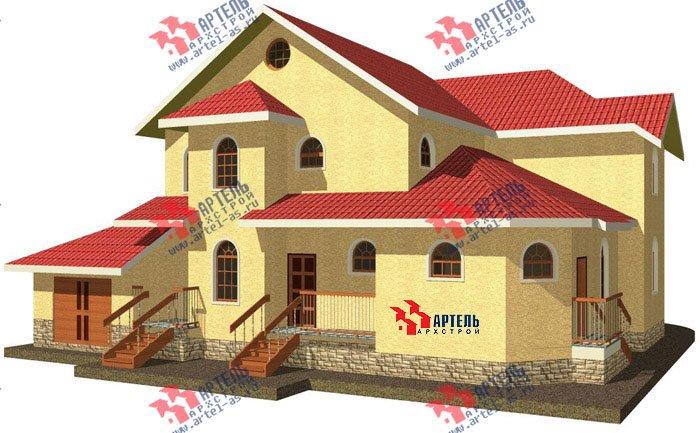 двухэтажный дом из камня площадью свыше 200 кв. м. с  балконом, гаражом, эркером, проект Вариант 6 фотография 498