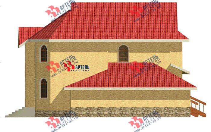 двухэтажный дом из камня площадью свыше 200 кв. м. с  балконом, гаражом, эркером, проект Вариант 6 фотография 501