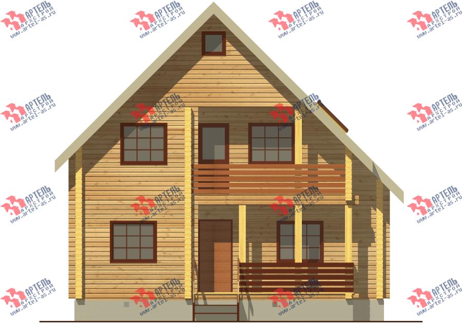 двухэтажный дом из бруса площадью от 100 до 150 кв. м. с  балконом, мансардой, проект Вариант 8 Ф фотография 3337
