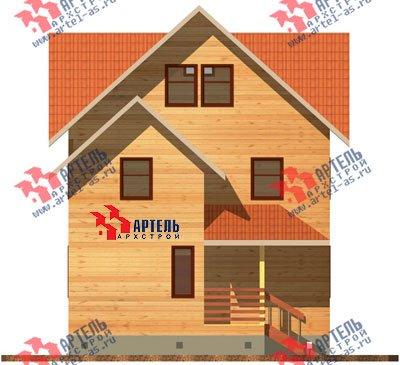 трёхэтажный дом из бруса площадью от 150 до 200 кв. м. с  мансардой, проект Вариант 8 П фотография 1185