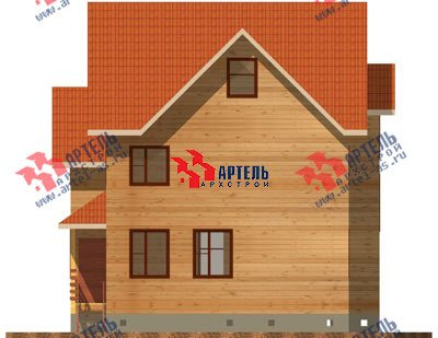 трёхэтажный дом из бруса площадью от 150 до 200 кв. м. с  мансардой, проект Вариант 8 П фотография 1186