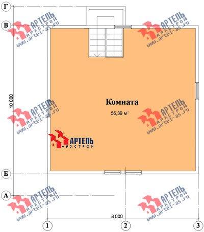 трёхэтажный дом из бруса площадью от 150 до 200 кв. м. с  мансардой, проект Вариант 8 П фотография 1194