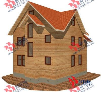 трёхэтажный дом из бруса площадью от 150 до 200 кв. м. с  мансардой, проект Вариант 8 П фотография 1184