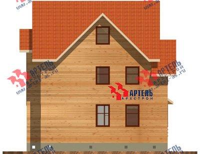 трёхэтажный дом из бруса площадью от 150 до 200 кв. м. с  мансардой, проект Вариант 8 П фотография 1188