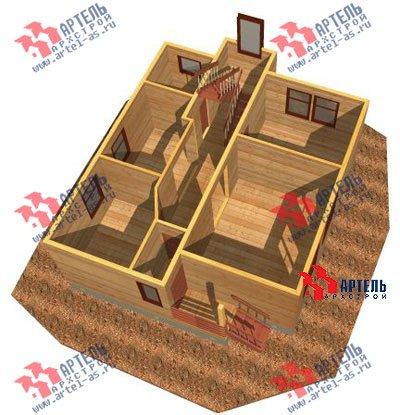 трёхэтажный дом из бруса площадью от 150 до 200 кв. м. с  мансардой, проект Вариант 8 П фотография 1189