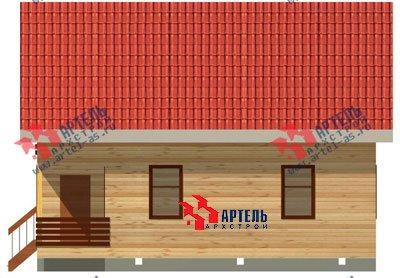 двухэтажный дом из профилированного бруса площадью от 100 до 150 кв. м. с  балконом, мансардой, проект Вариант 8 К фотография 1063