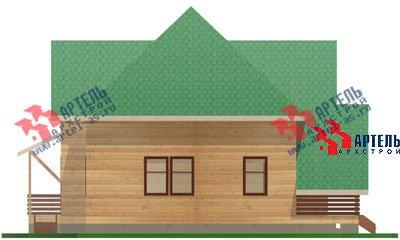 двухэтажный дом из бруса площадью от 150 до 200 кв. м. с  мансардой, террасой, проект Вариант 9.9 А фотография 1220