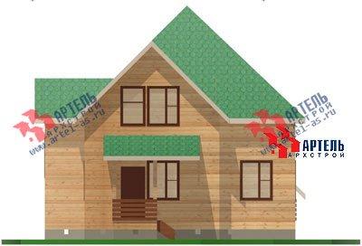 двухэтажный дом из бруса площадью от 150 до 200 кв. м. с  мансардой, террасой, проект Вариант 9.9 А фотография 1222