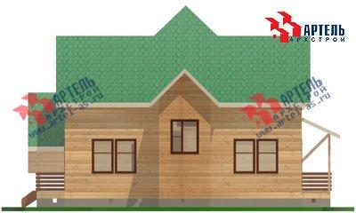 двухэтажный дом из бруса площадью от 150 до 200 кв. м. с  мансардой, террасой, проект Вариант 9.9 А фотография 1221