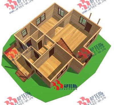 двухэтажный дом из бруса площадью от 150 до 200 кв. м. с  мансардой, террасой, проект Вариант 9.9 А фотография 1223