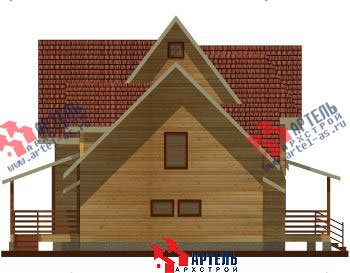 двухэтажный дом из профилированного бруса площадью свыше 200 кв. м. с  гаражом, мансардой, террасой, проект Вариант 10.2 А фотография 1315