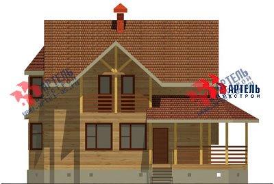 двухэтажный дом из бруса площадью свыше 200 кв. м. с  балконом, верандой, мансардой, эркером, проект Вариант 12.8 Б фотография 1463