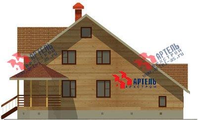 двухэтажный дом из бруса площадью свыше 200 кв. м. с  балконом, верандой, мансардой, эркером, проект Вариант 12.8 Б фотография 1464
