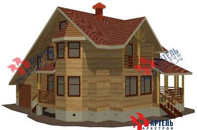 двухэтажный дом из бруса площадью свыше 200 кв. м. с  балконом, верандой, мансардой, эркером, проект Вариант 12.8 Б фотография 1462