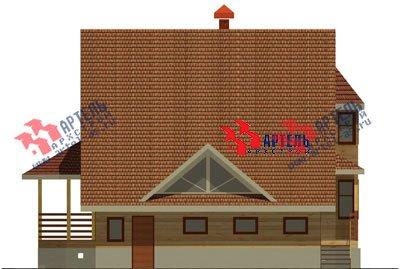 двухэтажный дом из бруса площадью свыше 200 кв. м. с  балконом, верандой, мансардой, эркером, проект Вариант 12.8 Б фотография 1465