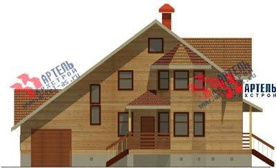 двухэтажный дом из бруса площадью свыше 200 кв. м. с  балконом, верандой, мансардой, эркером, проект Вариант 12.8 Б фотография 1466
