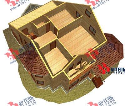 двухэтажный дом из бруса площадью свыше 200 кв. м. с  балконом, верандой, мансардой, эркером, проект Вариант 12.8 Б фотография 1468