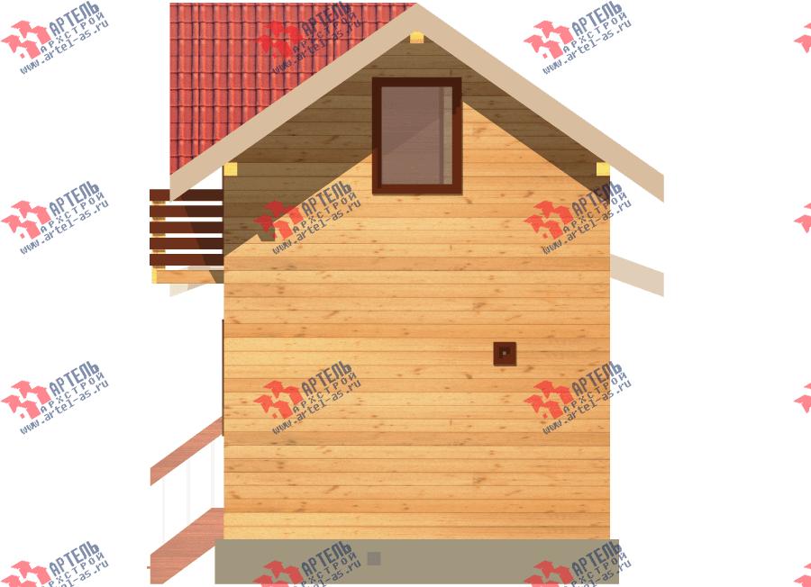 двухэтажный дом из профилированного бруса площадью до 100 кв. м., проект Вариант 7 фотография 3353