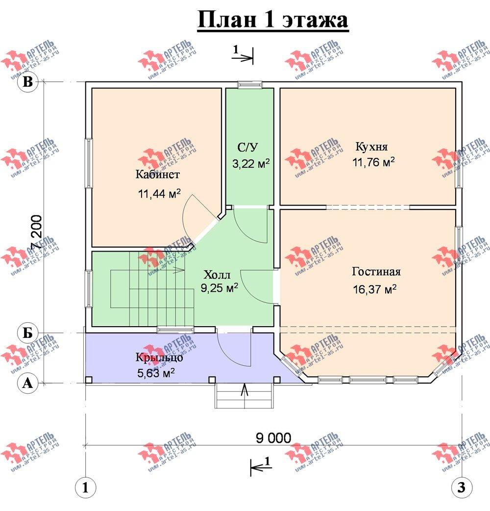 двухэтажный дом из профилированного бруса площадью от 100 до 150 кв. м. с  мансардой, эркером, проект Вариант 7.2 К фотография 866