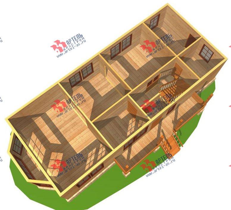 двухэтажный дом из бруса площадью от 150 до 200 кв. м. с  балконом, проект Вариант 6 О-1 фотография 2274