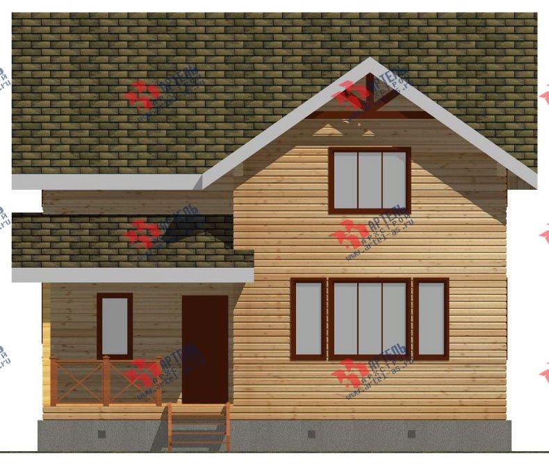 двухэтажный дом из бруса площадью от 100 до 150 кв. м. с  мансардой, проект Вариант 9 Ж-1 фотография 2569