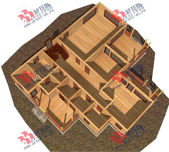 двухэтажный дом из бруса площадью свыше 200 кв. м. с  балконом, мансардой, террасой, проект Вариант 18 А фотография 2415