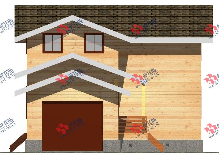 двухэтажный дом из бруса площадью от 150 до 200 кв. м. с  гаражом, мансардой, проект Вариант 8.6 Б фотография 2440