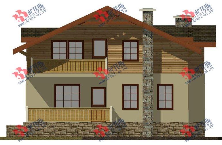 двухэтажный дом омбинированные дома площадью от 150 до 200 кв. м. с  балконом, эркером, проект Вариант 26 Комбинированный фотография 2825