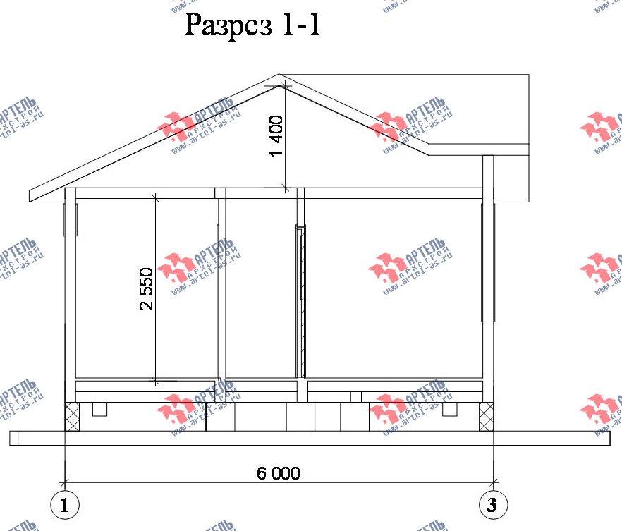 одноэтажный дом из профилированного бруса площадью до 100 кв. м., проект Вариант 4 фотография 1559