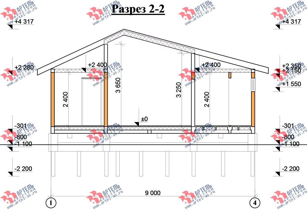 одноэтажный дом из профилированного бруса площадью до 100 кв. м., проект Вариант 5 фотография 1568