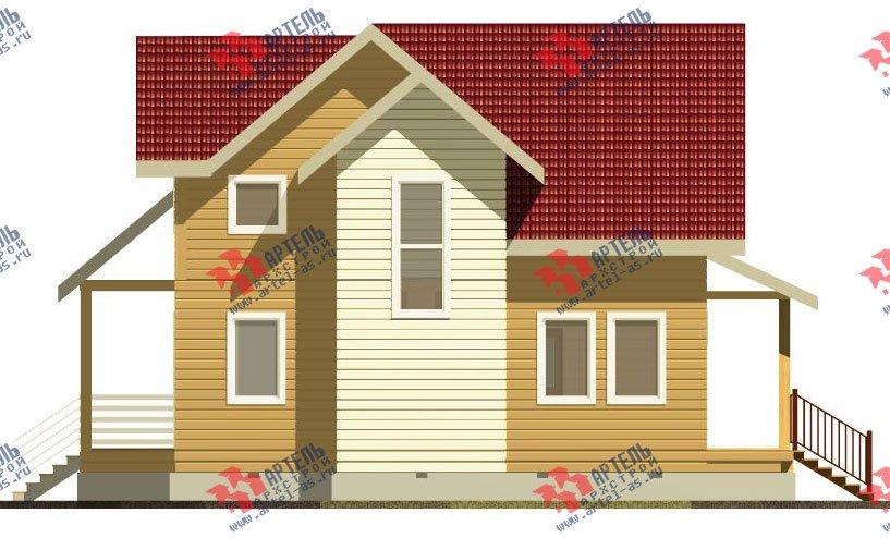 двухэтажный дом из профилированного бруса камерной сушки площадью от 100 до 150 кв. м. с  мансардой, проект Вариант 4 фотография 2509