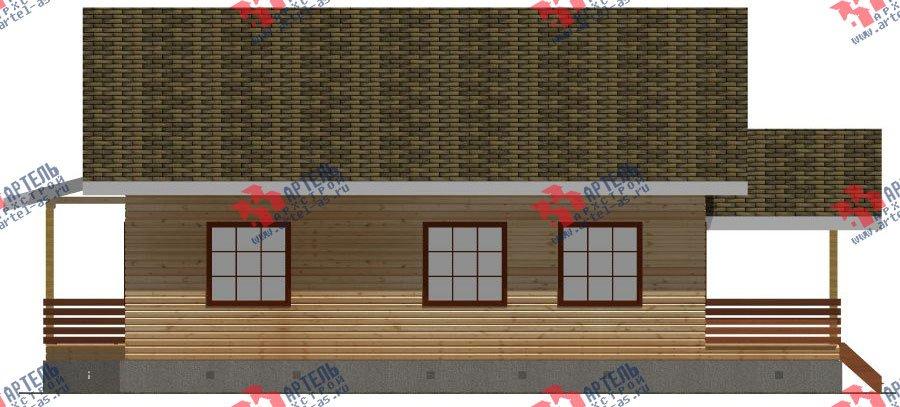 двухэтажный дом из бруса площадью свыше 200 кв. м. с  мансардой, террасой, проект Вариант 11 Л-1 фотография 2630