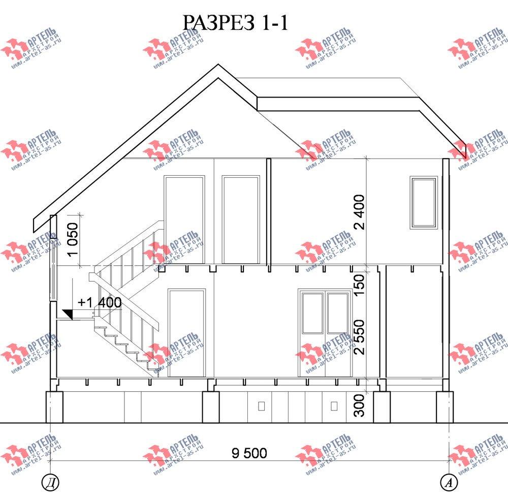 двухэтажный дом из бруса площадью от 100 до 150 кв. м. с  мансардой, террасой, эркером, проект Вариант 8 Д-1 фотография 1021