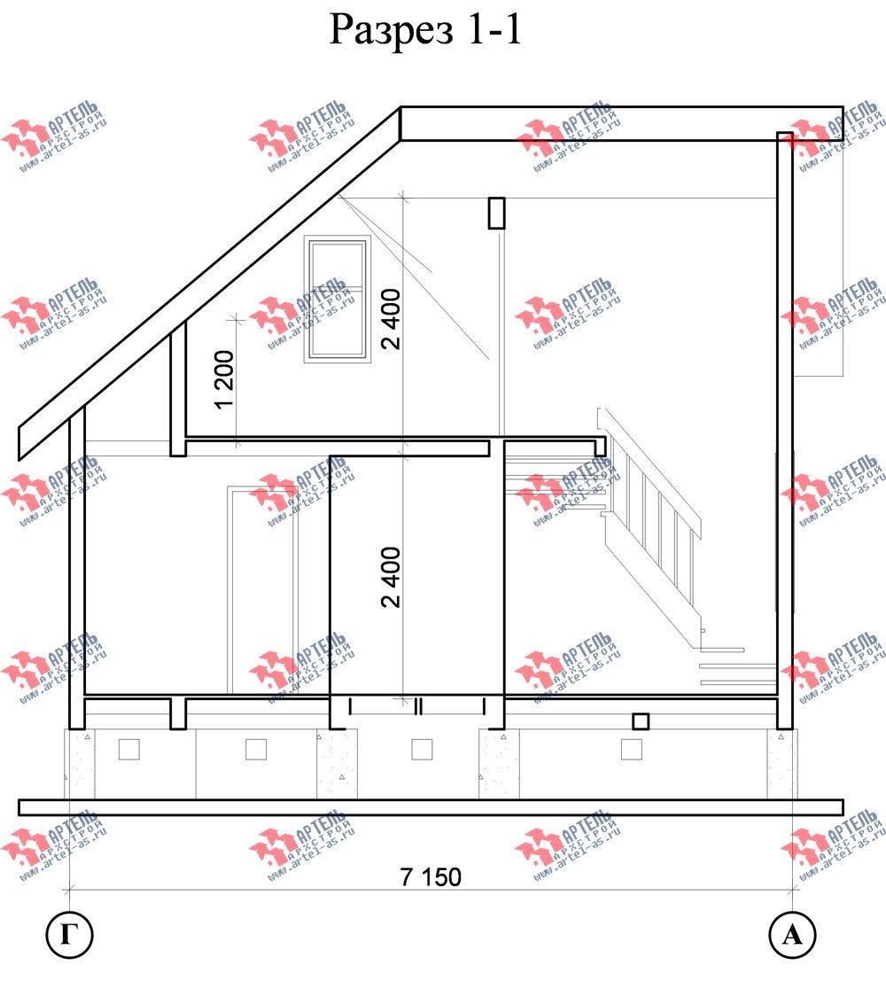 двухэтажный дом из профилированного бруса площадью до 100 кв. м., проект Вариант 3 фотография 1550