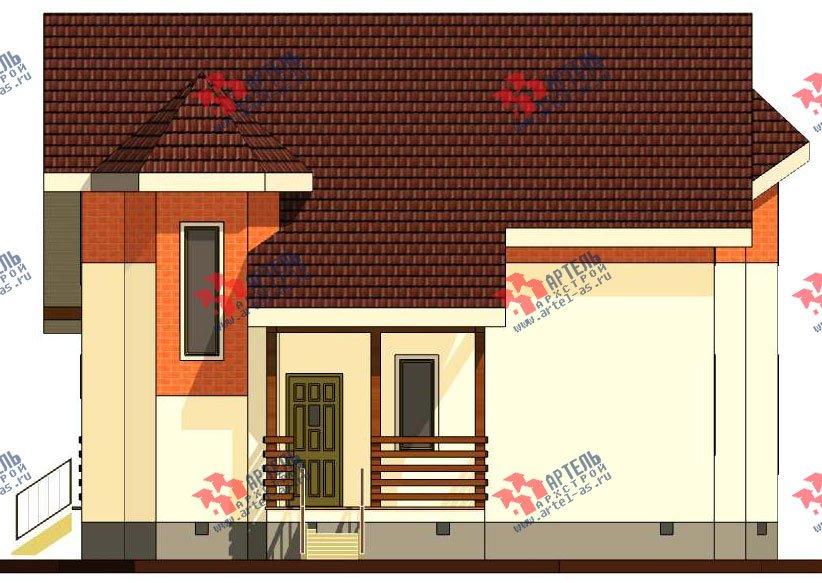 двухэтажный дом из профилированного бруса камерной сушки площадью от 150 до 200 кв. м. с  террасой, эркером, проект Вариант 8 фотография 2811
