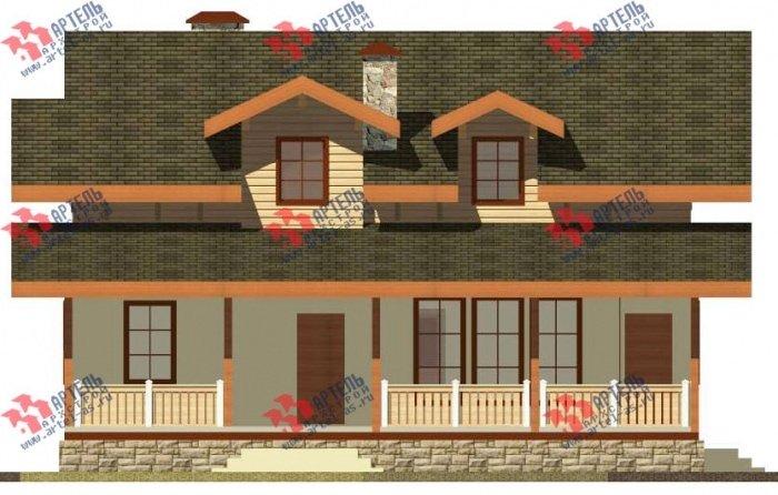 двухэтажный дом из профилированного бруса площадью от 150 до 200 кв. м. с  балконом, террасой, эркером, проект Вариант 10.8 А фотография 4785