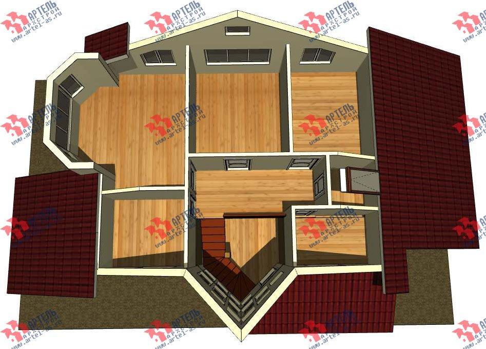 двухэтажный дом из профилированного бруса камерной сушки площадью от 150 до 200 кв. м. с  мансардой, террасой, эркером, проект Вариант 10 фотография 3004