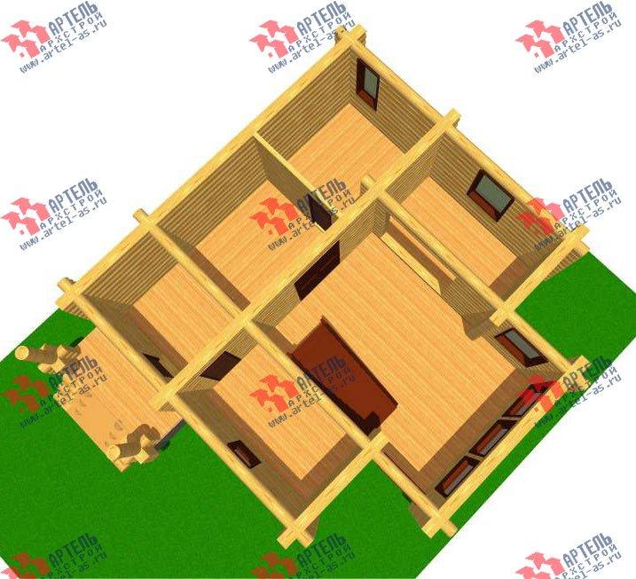 двухэтажный дом из оцилиндрованного бревна площадью от 100 до 150 кв. м. с  эркером, проект Вариант 1 фотография 3024
